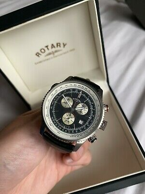 £25 • Buy Rotary Mens Watch GS03448/04 Genuine Leather Strap