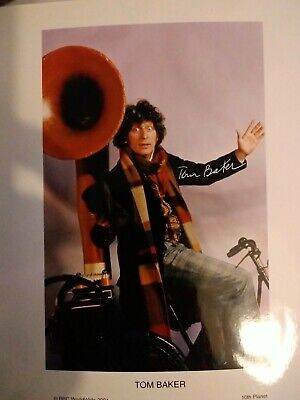 £8 • Buy Tom Baker As Doctor Who. Hand Signed 10x8  Colour Photo.