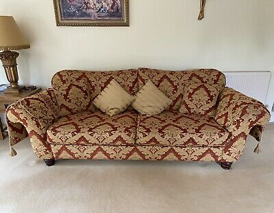 £500 • Buy Peter Guild, Steed Upholstery, 4 Piece Suite, Large Sofa, 2 Armchairs & Pouffe