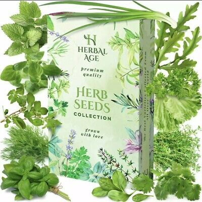 £4.49 • Buy 12 Herb Seeds Collection-For Planting Indoor And Outdoor Grow Your Own-8700 Seed