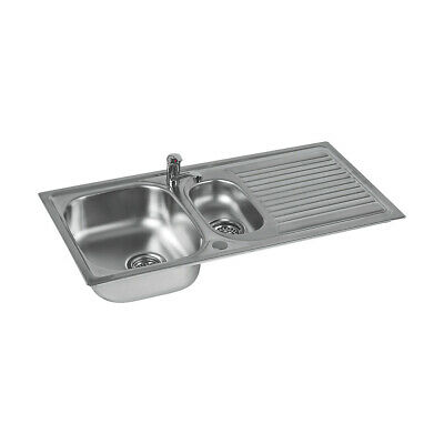 £67.49 • Buy Astracast Kitchen Sink And Tap 1.5 Bowl Stainless Steel Single Lever 965x500mm