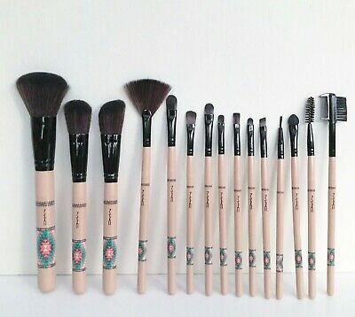 $142.98 • Buy MAC  Vibe Tribe Collection  15 Piece Makeup Brush Set Kit, Full Size, Brand New!