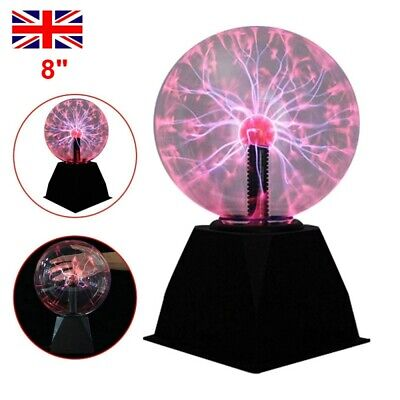£16.89 • Buy 8  Plasma Ball Globe Light Glowing Table Lamp Touch Activated Disco Party Gift