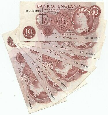 £4.99 • Buy Old 10 Shilling Notes - 10/- Ten Shilling Note
