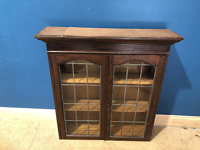 £25 • Buy Stained Pine Glass Fronted Bookcase
