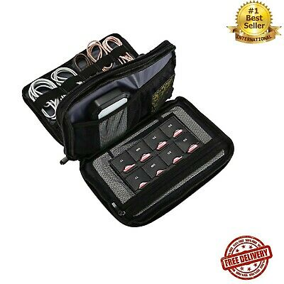AU19.99 • Buy Travel Gadget Organizer Bag Storage Carrying Case Pouch Cords USB Cables Sd Card