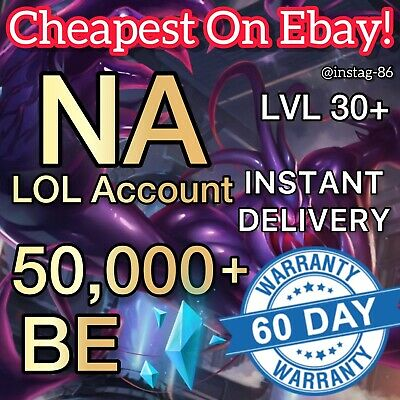 £2.49 • Buy NA League Of Legends Account LOL Smurf 50,000+ BE IP Level 30 Unranked