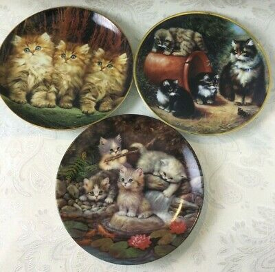 £7.99 • Buy Bundle Of 3 Collectable Cat Plates Used Various Types Brands Display Hang V162