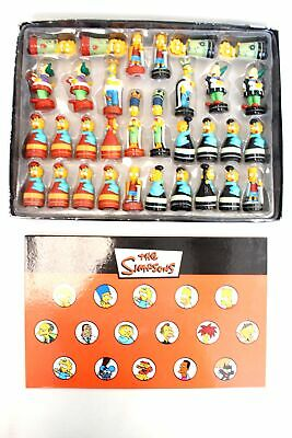 £4.99 • Buy 2005 THE SIMPSONS Complete Character Chess Set + Board BOXED - K26