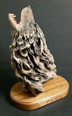 $65 • Buy Mill Creek Studios 'Primal Song' Wolf Sculpture Signed By Randall Reading
