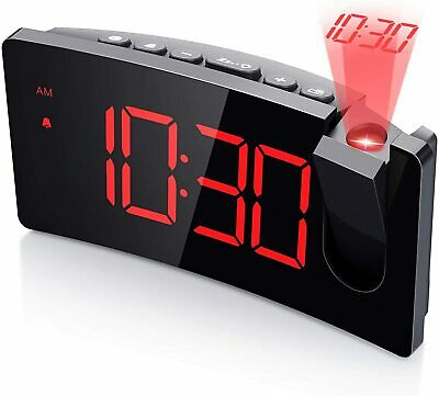 AU36.83 • Buy Mpow Alarm Clock Smart Digital LED Projection Snooze Time Projector LCD Display