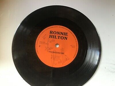 £2.50 • Buy Ronnie Hilton You Needed Me(Signed)