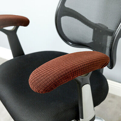 AU12.03 • Buy Removable Elastic Office Chair Armrest Cover Waterproof Fabric Solid Home