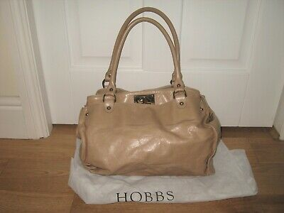 £28 • Buy Hobbs Beige/nude Soft Leather Slouchy Tote Shoulder Bag+gc+with Dustbag