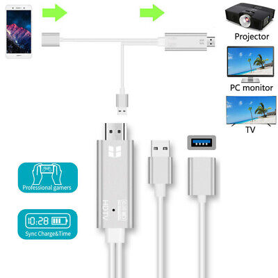 $ CDN21.39 • Buy USB 3.0 To HDMI Adapter Cable Phone To TV/Projector/Monitor For IPhone Android