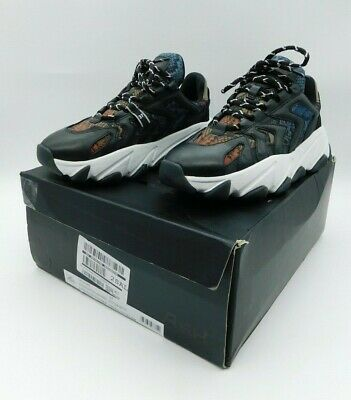 £79.50 • Buy ASH EXTREME Chunky Trainers Black Leather & Python Print Size 4 Free P&P