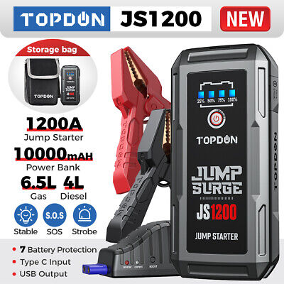 View Details 20800mAh USB Car Jump Starter Pack Booster Battery Charger Power Bank 2000Amp UK • 51.55£