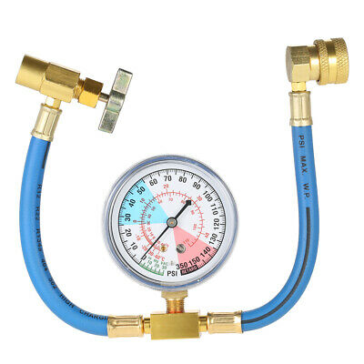 £10.85 • Buy AC R134A Car Auto Air Conditioning Refrigerant Recharge Measuring Hose Gauge Kit