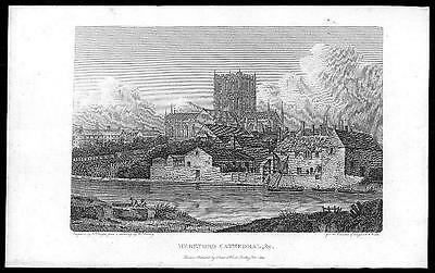 £10 • Buy 1816 - Original Antique Print HEREFORDSHIRE HEREFORD CATHEDRAL (302)