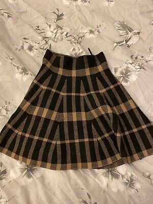 £0.99 • Buy New Looks Size 8 Check Patterned Skirt