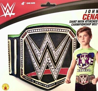 £10.01 • Buy WWE Kids Costume Top Shirt  John Cena  With Attached Championship Belt
