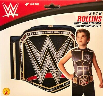 £10.01 • Buy WWE Kids Costume Top Shirt  SETH ROLLINS  With Attached Championship Belt