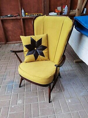 £195 • Buy Original Vintage Ercol Windsor Nr. 478 Tall Back Armchair With New Cushions!!!