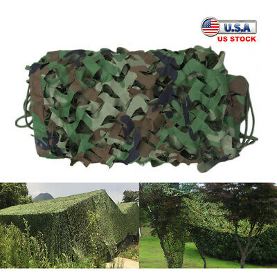 $7.89 • Buy 3.3x6.6FT Woodland Camo Mesh Netting Camouflage Net Blinds For Hunting Military