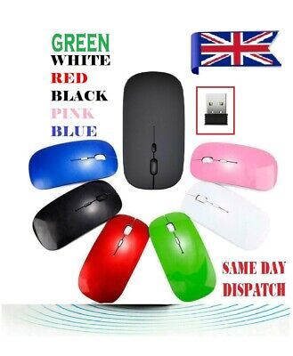 £3.69 • Buy 2.4 GHz Wireless Cordless Mouse Mice Optical Scroll For PC Laptop Computer + USB