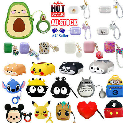 AU12.99 • Buy For Apple AirPods 1/2 And Pro Case Cover Silicone Keychain Multi Desgins Au SALE
