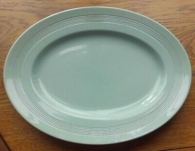 £11 • Buy Woods Ware Beryl (green) Oval Serving Platter / Steak Plate 12 Inches (30cm)