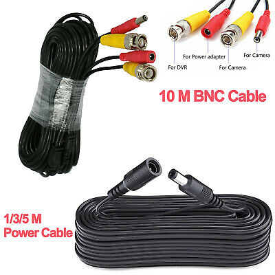 £3.99 • Buy BNC DC CCTV Security Video Camera DVR Record Power Lead Extension Cable 10m 20m
