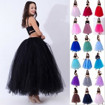 £21.99 • Buy UK Women Layers Long Tulle Tutu Skirt Wedding Petticoat Prom Party Ball Gown J1
