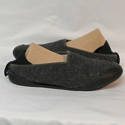 $30.99 • Buy Mahabis Classic Slippers Womens Size US 7.5 Eur 38 Charcoal Removable Bottom EUC