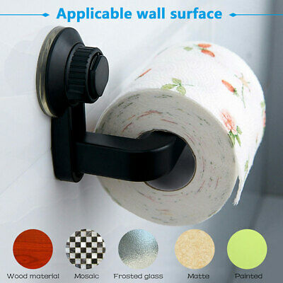 AU12.27 • Buy Suction Cup Toilet Paper Roll Holder Bathroom Tissue Wall Mounted Storage RackHo