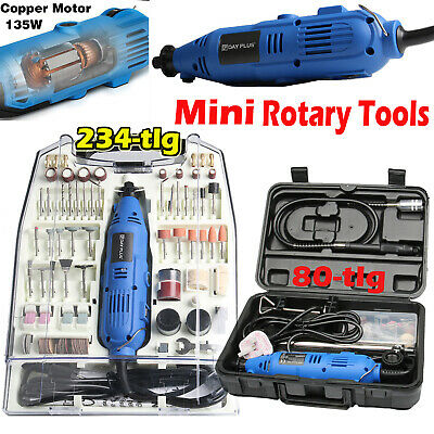 £31.70 • Buy 234 80 Rotary Multi Tool Set Dremel Compatible Accessories Mini Drill Hobby+case