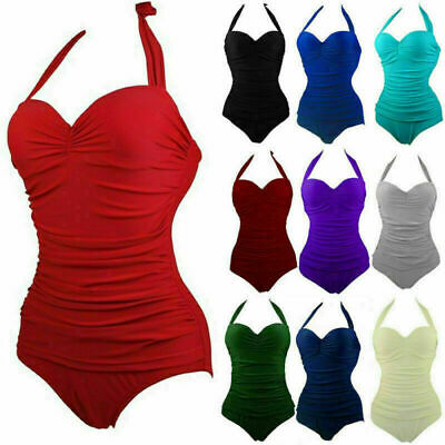 £9.69 • Buy Womens M&S Tummy Control Swimsuit Padded Swimming Costume Bandeau Slimming Size