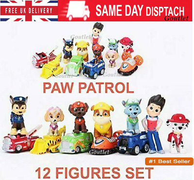 £7.75 • Buy 12PCs Paw Patrol Action Figures Puppy Dogs Kids Toy Gift- UK SELLER