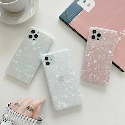AU13.99 • Buy Granite Marble Phone Case Square Cover For IPhone 7 8 Plus XR XS 11 12 Pro MAX