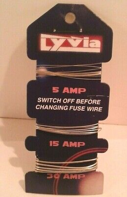 £1.75 • Buy Duralon New Card Of Lyvia Assorted Consumer Fuse Wire - 5, 15, 30 Amp