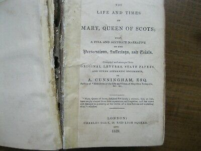 £29.99 • Buy  CUNNINGHAM The Life And Times Of Mary Queen Of Scots 1839. First Edition