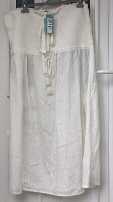 £5.99 • Buy Marks And Spencer Beachwear/Cover Up Comfy Lounge Dress White BNWT