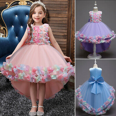 £19.20 • Buy Kids Toddler Girls Floral Dress Ball Gowns Birthday Party Formal Dresses Clothes