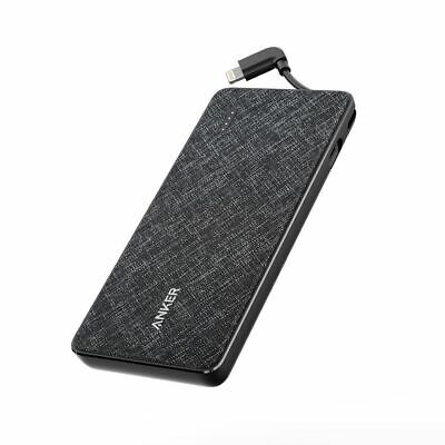 AU116.36 • Buy Anker Powercore 10000 With Lightning Cable - Black Fabric