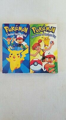 $8.99 • Buy Lot Of Two Pokemon Vhs Tapes I Choose You! Pikachu, & The Sisters Of Cerulean Ci