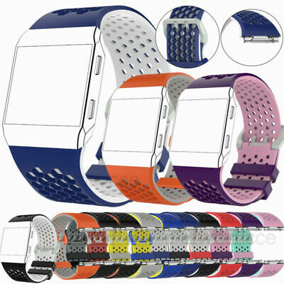 AU8.99 • Buy Silicone Watch Strap Bracelet Wrist Band Buckle For Fitbit Ionic Fitness Tracker