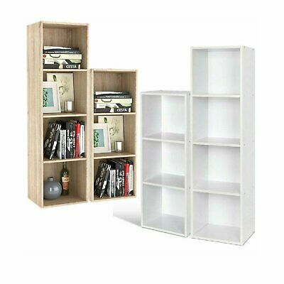 £24.99 • Buy 3/4/6/8Tier Wooden Bookcase Shelving Display Cube Organizer Shelves Storage Unit