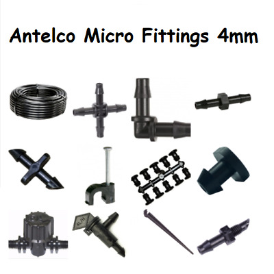 £2.39 • Buy Antelco Micro Irrigation Fitting 4mm Pipe Barbed Garden Watering Connector Valve
