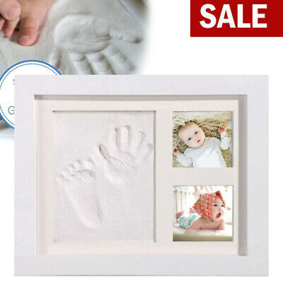 £11.98 • Buy New Baby Hand Foot Print Frame Kit Soft Imprint Clay For Moulding With A Premium