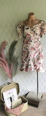 AU40 • Buy Forever New Dusty Pink Floral Dress 8